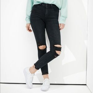 American Eagle High-Rise Ripped Jeans
